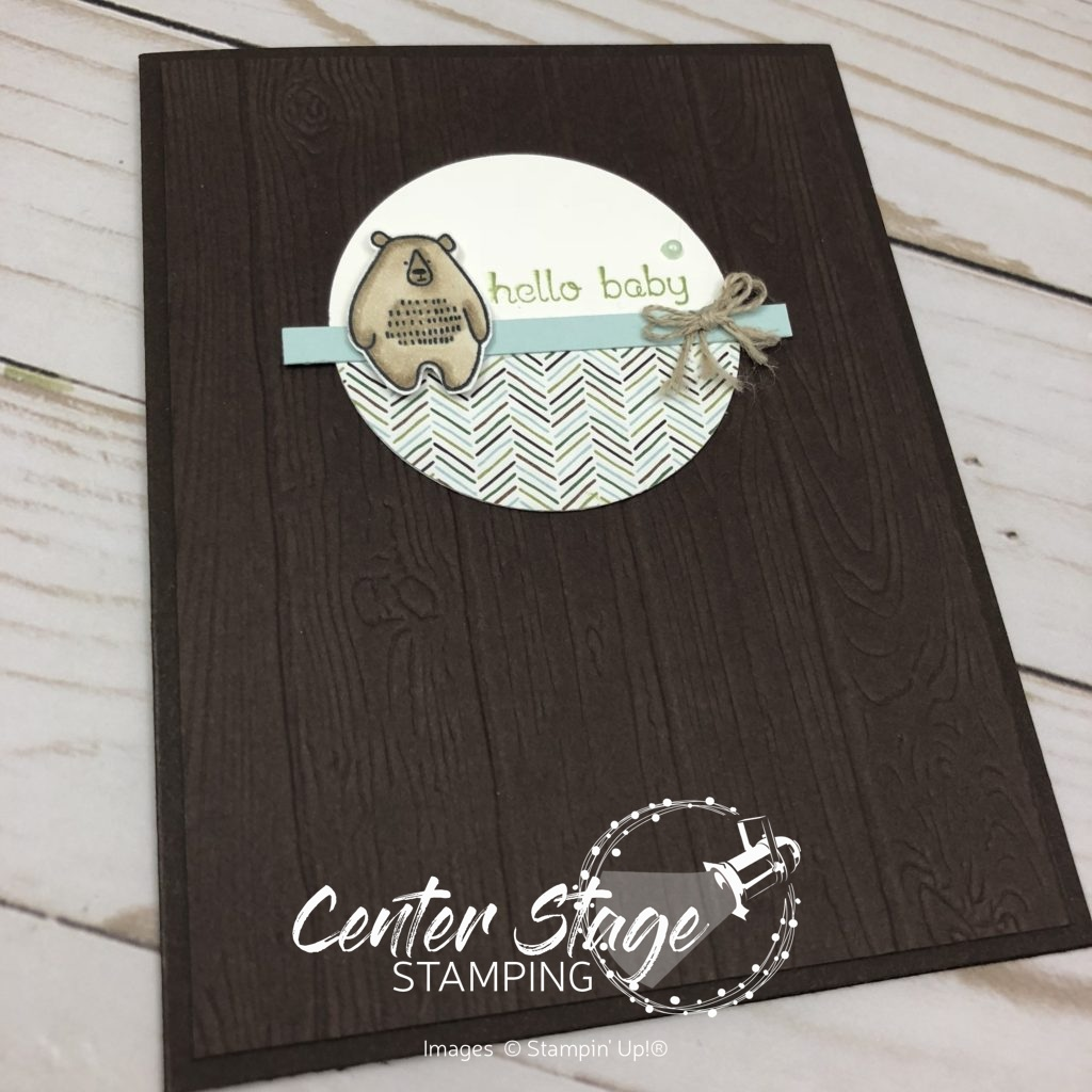 Hello baby bear - Center Stage Stamping