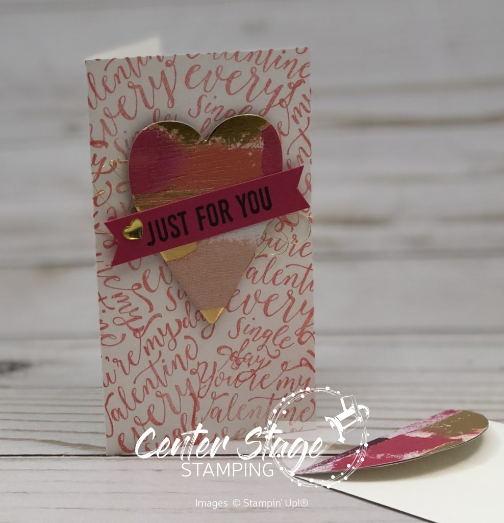For You Valentine - Center Stage Stamping