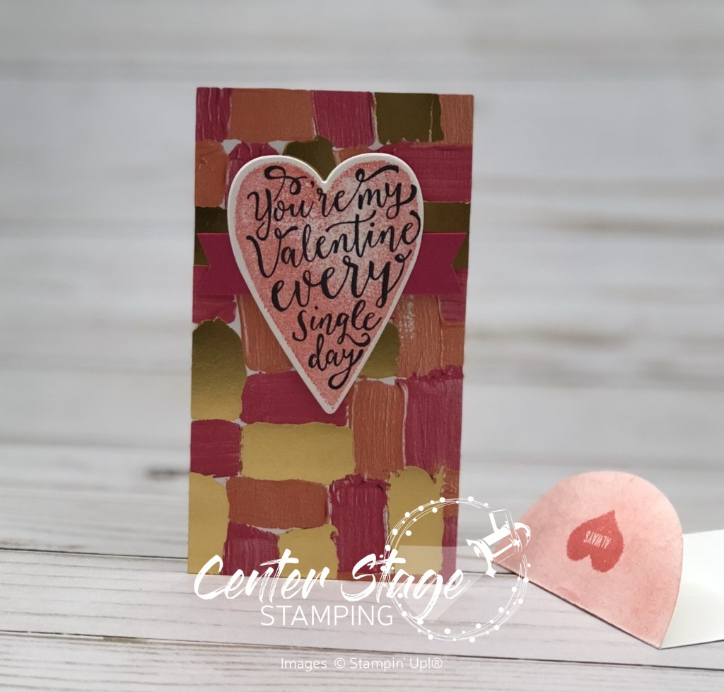 My Valentine - Center Stage Stamping