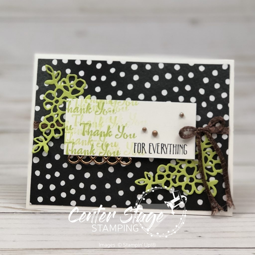 Petal Palette Thank you - Center Stage Stamping