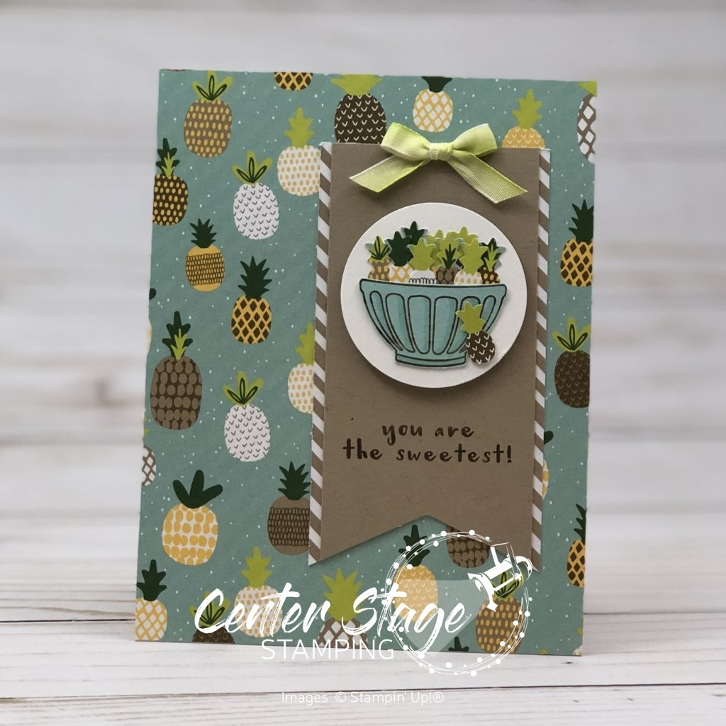 Sweet pineapples - Center Stage Stamping