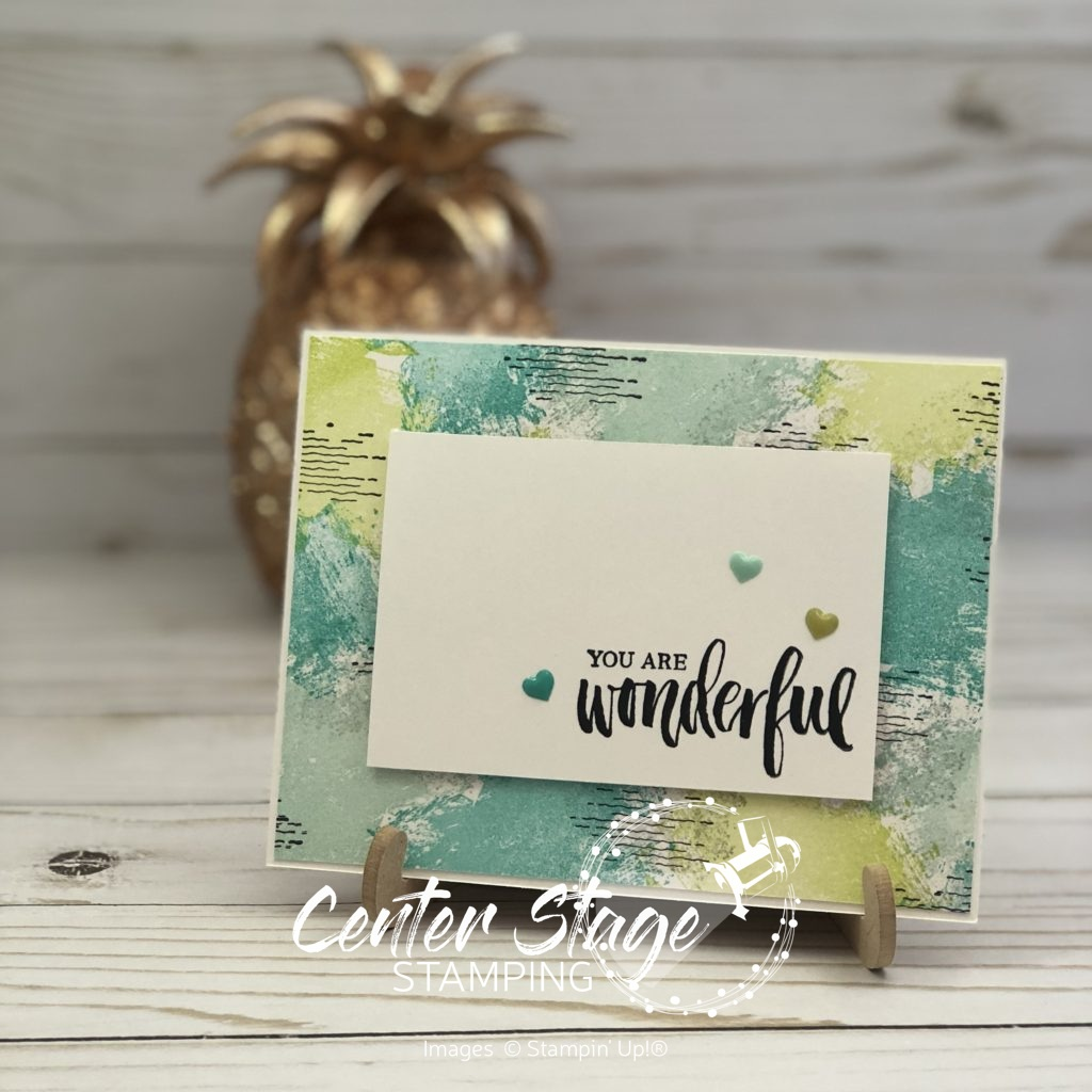 Wonderful you - Center Stage Stamping