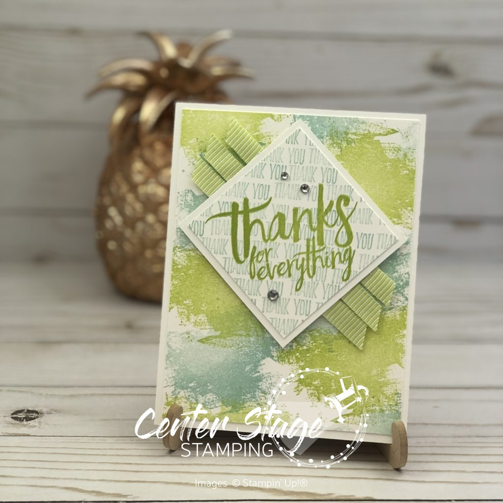 Thanks-  Center Stage Stamping