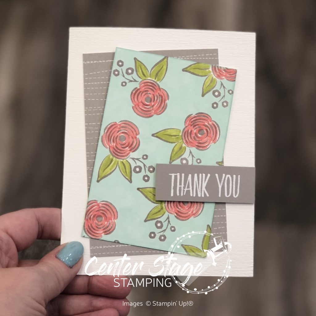 Thank you blooms - Center Stage Stamping