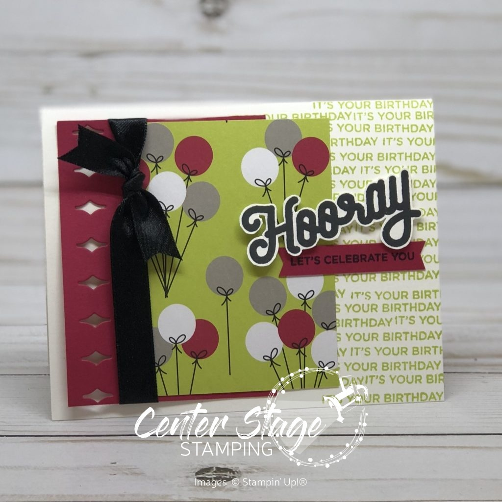 Hooray, let's celebrate you - Center Stage Stamping