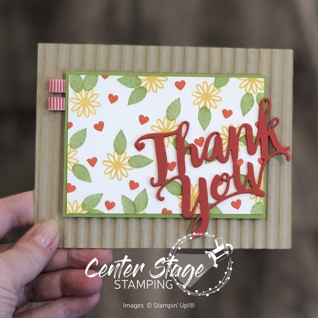 Inky Friends DC 10: Thank You - Center Stage Stamping