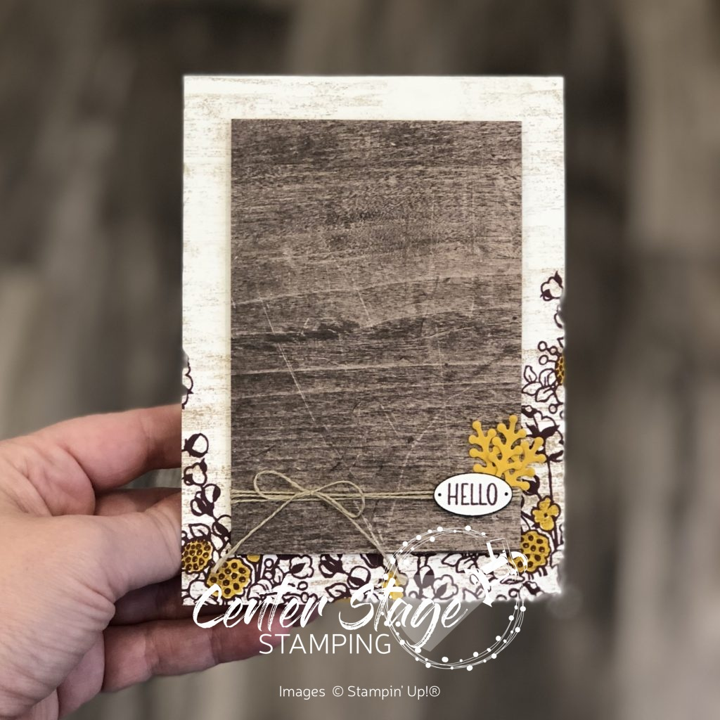 Country Home Hello - Center Stage Stamping