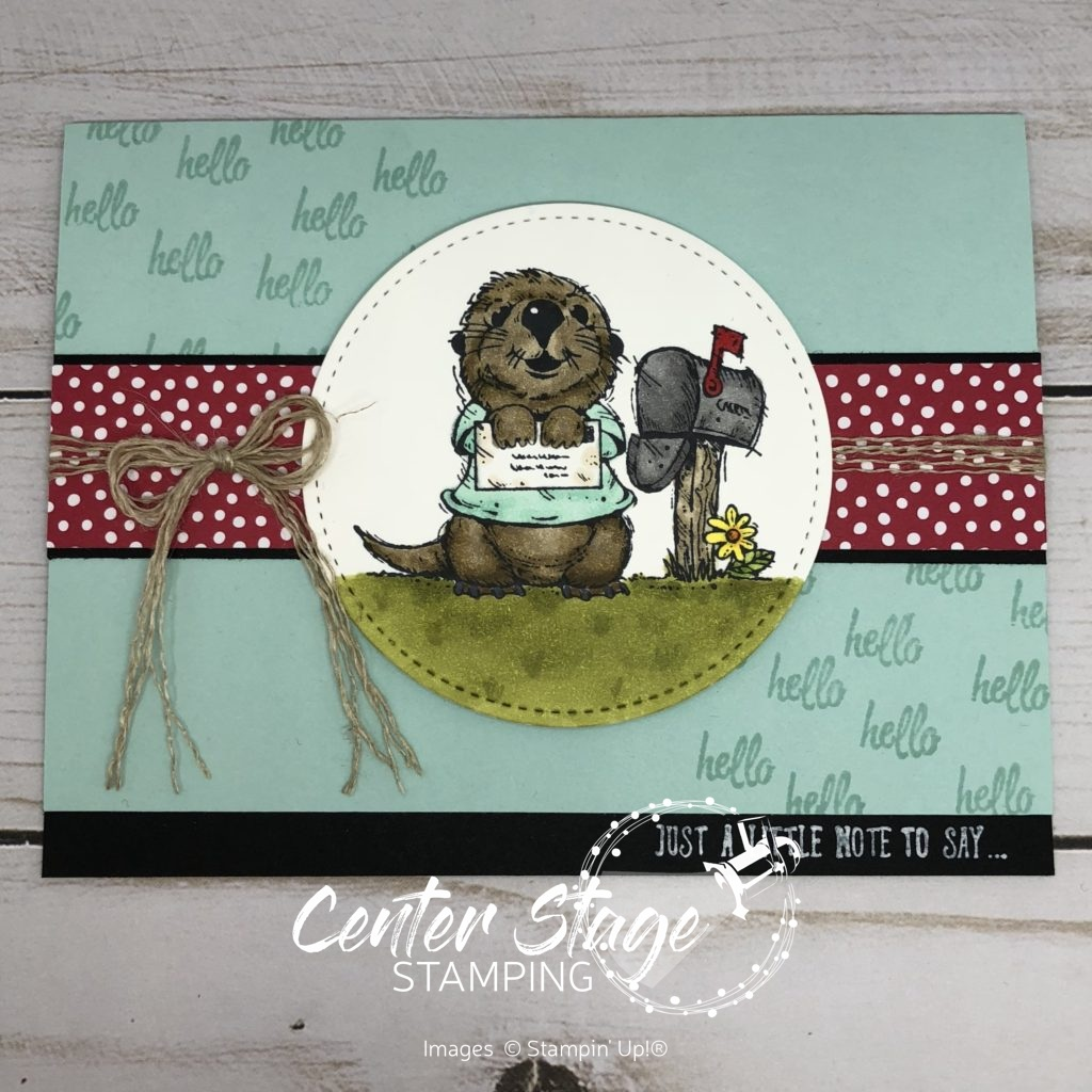Postcard Palls: Otter - Center Stage Stamping