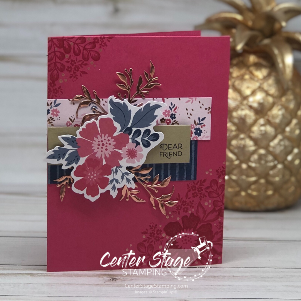 : Dear Friend card - Center Stage Stamping
